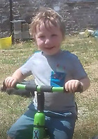 Pictured: Evan Lloyd Williams, the three yeasr old boy who died in Llanybydder, west Wales, UK. Tuesday 23 October 2018<br /> Re: A three-year-old boy has died after being hit by a vehicle at a property in Carmarthenshire, Wales, UK.<br /> Dyfed-Powys Police are investigating the incident near Llanybydder on Sunday.<br /> The child, named as Efan Lloyd Williams, died at the scene and the family are being supported by specially trained officers.