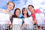 Big smiles for Joyce Costello, Aideen O'Conor, Louise Dineen and Michaela Burke from Presentation Secondary School, Listowel  who received their Junior Certificate results on Wednesday.