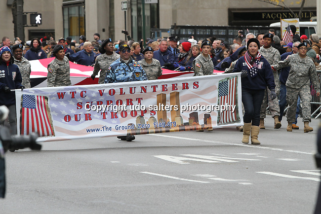 Veteran's Day Parade 2013 on Fifth Avenue in New York Ciy