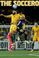 October 11, 2016: MILE JEDINAK (15) of Australia fouls HOTARU YAMAGUCHI (16) of Japan during a 3rd round Group B World Cup 2018 qualification match between Australia and Japan at the Docklands Stadium in Melbourne, Australia. Photo Sydney Low Please visit zumapress.com for editorial licensing. *This image is NOT FOR SALE via this web site.