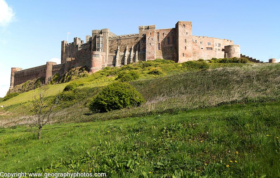 Bamburgh castle, Northumberland, England, UK