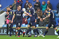 Jack Marriott of Derby County (right) is congratulated after having scored during Queens Park Rangers vs Derby County, Sky Bet EFL Championship Football at Loftus Road Stadium on 6th October 2018