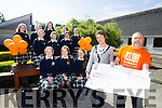 TY teacher Claire Kingston Presented a cheque for €850 to Tom Barrett of Arthritis Ireland for a fundraiser by Presentation Secondary Tralee TY's, in Juvenile Arthritis Awareness Month. The money was raised by a food sale and ice cream sale on sports day.Pictured back 1st row l-r  Vivienne Ahern, Emer Brosnan, Sharon O'Connor, 2nd row Muireann Moriarty, Laura Donnelly and Isabel Horgan. 3rd row  l-r  Aine O'Sullivan, Ava Kelleher, Aoife Dillane, Holly O'Donnell and Amy Cullen