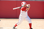 MADISON, WI - APRIL 16: Alexis Garcia #25 of the Wisconsin Badgers softball team hits the ball against the Indiana Hoosiers at Goodman Diamond on April 16, 2007 in Madison, Wisconsin. (Photo by David Stluka)