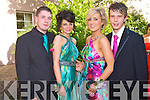 Enjoying at the Milltown Debs at the Abbeygate Hotel, Tralee on Friday l-r: Kyle O'Connor, Ciara O'Sullivan, Tara Tangney and Evan O'Donoghue.