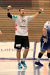 09.11.2019, Hansehalle Luebeck, GER,  2.Bundesliga Handball VfL Luebeck-Schwartau - TV Emsdetten<br /> <br /> im Bild / picture shows<br /> Einzelaktion/Aktion. Ganze Figur. Einzeln. Freisteller. Jan Mojzis (TV Emsdetten) jubelt.<br /> <br /> Foto © nordphoto / Tauchnitz