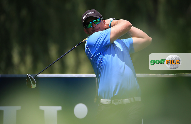 Dean Burmester (RSA) in action on the West Course during Round 2 of the 2016 Joburg Open Celebrating 10 years, played at the Royal Johannesburg and Kensington Golf Club, Gauteng, Johannesburg, South Africa.  15/01/2016. Picture: Golffile | David Lloyd<br /> <br /> All photos usage must carry mandatory copyright credit (&copy; Golffile | David Lloyd)