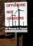 Windfarm protest poster, Offshore not Onshore, Parham, Suffolk, England