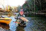 Toby Thompson fly fishing in October