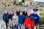 Duagh Community Alert fights back on rural crime l-r  Mark Ahern, Eileen Deenehy, Liam Deenehy, Tracy Horan, Shane Batten and Timmy Horan. Back l-r  Pat Cronin, David Joy, James Dillon and Garda Declan McDonagh