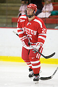 Luke Popko (BU - 26) - The Boston University Terriers defeated the Harvard University Crimson 6-5 in overtime on Tuesday, November 24, 2009, at Bright Hockey Center in Cambridge, Massachusetts.