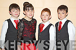 Pictured at the Comhaltas dancing finals in Currow on Sunday were the Killarney Irish dancers were l-r: Peter O'Shea, Leah Sheehan, Joe Rudden and Liam Healy.