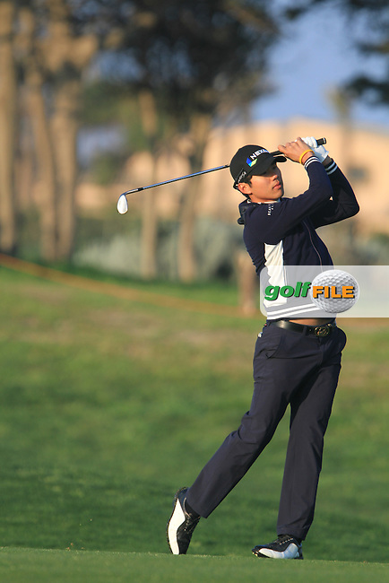 Do-Hoon Kim (KOR) on the 1st on Day 4 of the 2012 Sicilian Open at Verdura Golf and Spa Resort, Sicily, Italy....(Photo Jenny Matthews/www.golffile.ie)