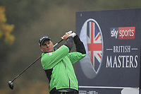 Robert Karlsson (SWE) on the 3rd tee during Round 4 of the Sky Sports British Masters at Walton Heath Golf Club in Tadworth, Surrey, England on Sunday 14th Oct 2018.<br /> Picture:  Thos Caffrey | Golffile<br /> <br /> All photo usage must carry mandatory copyright credit (&copy; Golffile | Thos Caffrey)