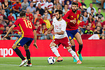 Spain's Jordi Alba and Georgia's Jigauri during the up match between Spain and Georgia before the Uefa Euro 2016.  Jun 07,2016. (ALTERPHOTOS/Rodrigo Jimenez)