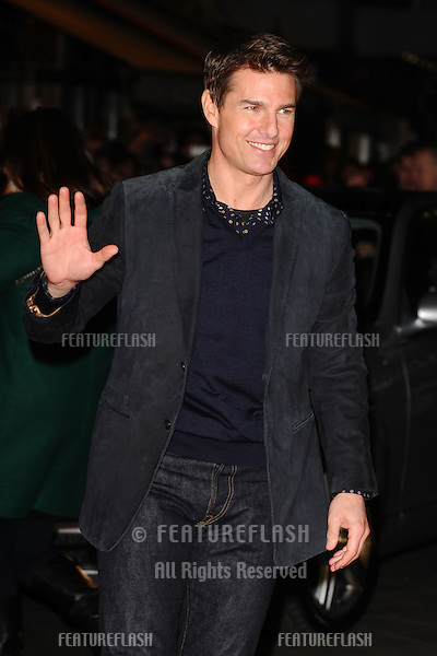 "Tom Cruise arrives for the ""Jack Reacher"" premiere at the Odeon Leicester Square, London. 10/12/2012 Picture by: Steve Vas / Featureflash"