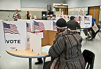 Fairfax, VA, November 8, 2016, USA:USA: Polling sites in Fairfax, VA are open and voters are making their voices heard in the 2016 Presidential elections.  Patsy Lynch/MediaPunch