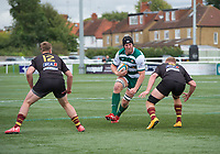 Ben West of Ealing Trailfinders during the RFU Championship Cup match between Ealing Trailfinders and Ampthill RUFC at Castle Bar , West Ealing , England  on 28 September 2019. Photo by Alan  Stanford / PRiME Media Images