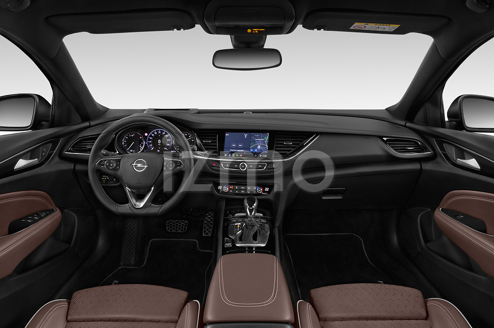 Stock photo of straight dashboard view of 2019 Opel Insignia-Grand-Sport GSI 5 Door Hatchback Dashboard