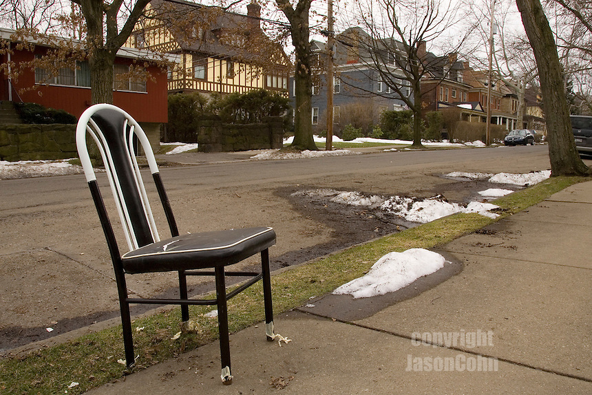 Parking chairs in Pittsburgh.