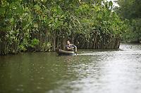 Expedição de documentação sobre a bacia do rio Aurá.