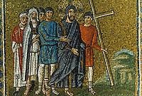 Ravenna: Mosaic--The Way to the Calvary, 6th century. Basilica of Nuovo Sant'Apollinare.