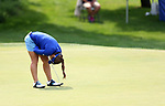 SIOUX FALLS, SD - AUGUST 31: Ani Gulugian reacts as her birdie putt misses the cup on the 9th hole, her 18th hole, during the first round of the Great Life Challenge, Symetra Tour stop at Willow Run Thursday afternoon. (Photo by Dave Eggen/Inertia)