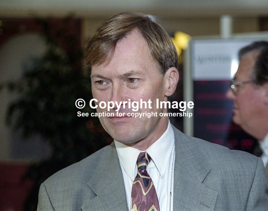 David Amess, MP, Conservative Party, UK, annual conference, Blackpool, 199910103.<br />