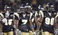 Florida International University Golden Panthers v. Bowling Green University Falcons at Miami, Florida on Saturday, September 16, 2006...Senior linebacker Keyonvis Bouie (7).Sophomore defensive lineman Reginald Jones (98)