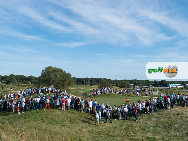 Spectators and Sergio Garcia (ESP) during the 3rd round at the KLM Open, The International, Amsterdam, Badhoevedorp, Netherlands. 14/09/19.<br /> Picture Stefano Di Maria / Golffile.ie<br /> <br /> All photo usage must carry mandatory copyright credit (© Golffile | Stefano Di Maria)