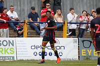 Kurtis Guthrie of Stevenage celebrates before seeing the flag during St Albans City vs Stevenage, Friendly Match Football at Clarence Park on 13th July 2019