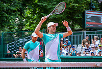 Paris, France, 31 May, 2018, Tennis, French Open, Roland Garros, Men's doubles, Wesley Koolhof (NED) (R) and Artem Sitak (NZL)<br /> Photo: Henk Koster/tennisimages.com