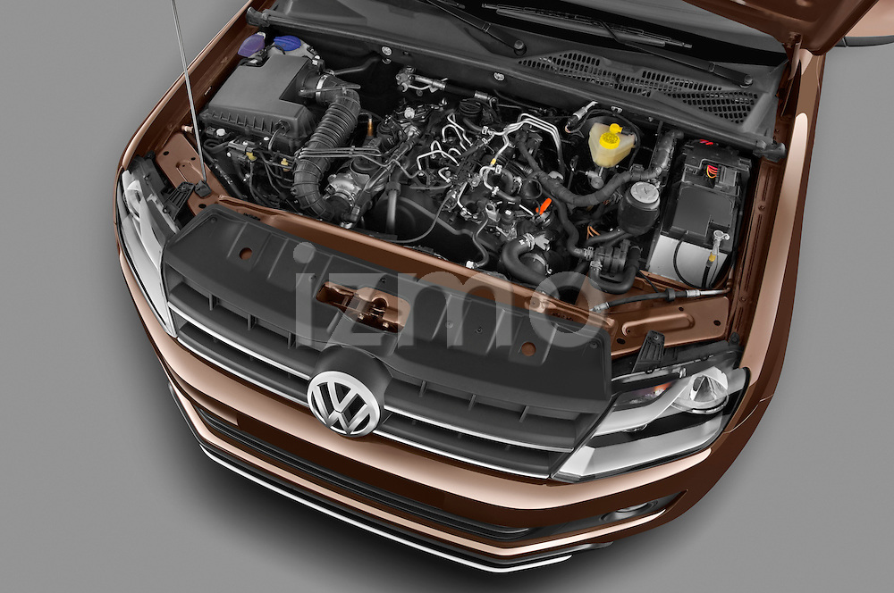 High angle engine detail of a 2012 Volkswagen Amarok Trendline Truck.