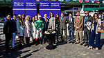 November 3, 2018 : Connections for Sistercharlie #6, ridden by John Velazquez, winner of the Maker's Mark Breeders' Cup Filly & Mare Turf, celebrate in the winner's circle on Breeders Cup World Championships Saturday at Churchill Downs on November 3, 2018 in Louisville, Kentucky. Bill Denver /Eclipse Sportswire/CSM