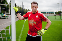 SWANSEA, WALES - JULY 2: Goalkeeping Coach Tony Roberts during the Swansea City training session at the Landore Training Centre on July 2, 2015 in Swansea, Wales.  (photo by Athena Pictures)