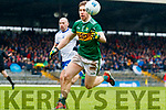 Peter Crowley  Kerry in action against Gavin Doogan Monaghan during the Allianz Football League Division 1 Round 5 match between Kerry and Monaghan at Fitzgerald Stadium in Killarney, on Sunday.