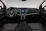 Stock photo of straight dashboard view of 2015 Honda CR-V Elegance 5 Door SUV Dashboard