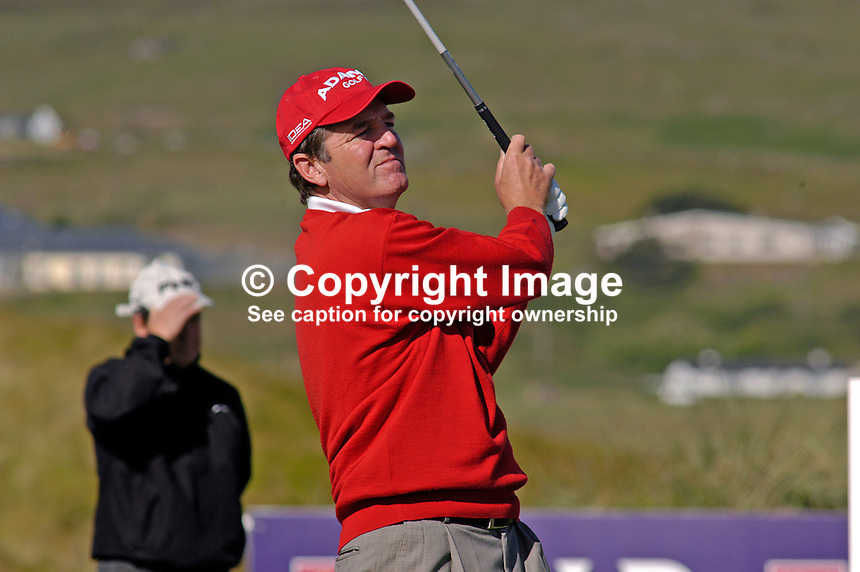 Des Smyth, Ireland, professional, golfer, Irish Seniors Open, Ballyliffin Old Course, Co Donegal, Ireland, 200806207750 ..Copyright Image from Victor Patterson, 54 Dorchester Park, Belfast, UK, BT9 6RJ..Tel: +44 28 9066 1296.Mob: +44 7802 353836.Voicemail +44 20 8816 7153.Skype: victorpattersonbelfast.Email: victorpatterson@mac.com.Email: victorpatterson@ireland.com (back-up)..IMPORTANT: If you wish to use this image or any other of my images please go to www.victorpatterson.com and click on the Terms & Conditions. Then contact me by email or phone with the reference number(s) of the image(s) concerned.