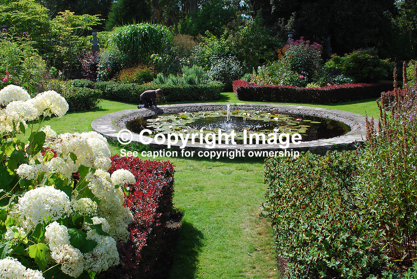 Italian garden at front of Mount Stewart House, Co Down, N Ireland, August 2011, 201108200015.  Copyright Image from Victor Patterson, 54 Dorchester Park, Belfast, United Kingdom, UK...For my Terms and Conditions of Use go to http://www.victorpatterson.com/Victor_Patterson/Terms_%26_Conditions.html