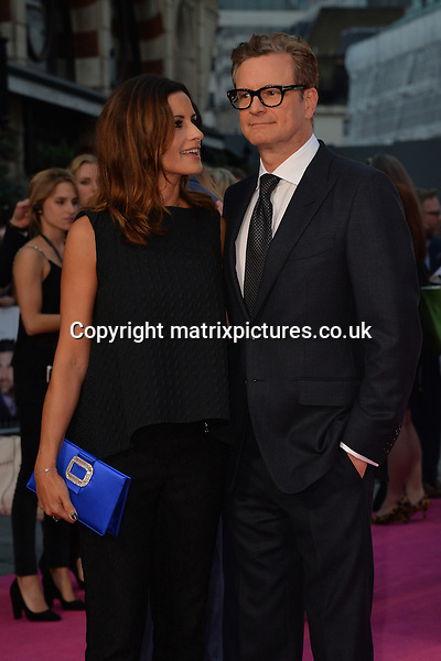 NON EXCLUSIVE PICTURE: MATRIXPICTURES.CO.UK<br /> PLEASE CREDIT ALL USES<br /> <br /> WORLD RIGHTS<br /> <br /> English &quot;Kingsman&quot; actor Colin Firth attends the world premiere of &quot;Bridget Jones's Baby&quot; in which he also stars along with his wife, Italian actress Livia Giuggioli at Leicester Square in London.<br /> <br /> SEPTEMBER 5th 2016<br /> <br /> REF: JWN 162864