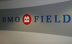 28 April 2007: The foyer leading to the field with the stadium's name. Major League Soccer expansion team Toronto FC lost 1-0 to the Kansas City Wizards in the inaugural game at BMO Field in Toronto, Ontario, Canada, the first MLS game played outside of the United States.