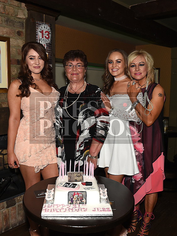 Jess Thompson celebrating her 21st birthday in Donaghy's with mother Orla and sister Rebecca and grandmother Etty Heery. Photo:Colin Bell/pressphotos.ie