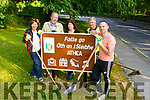 Members of the Athea Tidy Towns working out on the Glin road. L to r: Margaret Scanlon, Colin and Linda Mumbray, Donncha Quill and Damien Ahern.