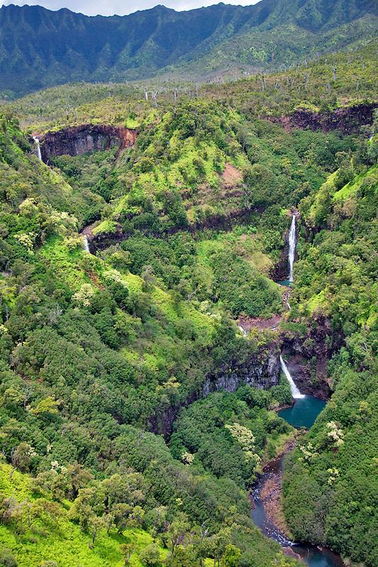 "Kahili Falls (""Five Sisters Falls""). Kauai, Hawaii"