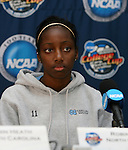 2 December 2006: North Carolina's Robyn Gayle (CAN). The University of North Carolina Tarheels held a press conference at SAS Stadium in Cary, North Carolina one day before playing in the NCAA Division I Women's College Cup championship game.