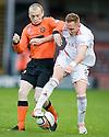 United's Willo Flood and Aberdeen's Robert Milsom     ...