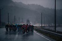 Jelle Wallays (BEL/Lotto-Soudal) leading the pack early on<br /> <br /> 76th Paris-Nice 2018<br /> Stage 8: Nice > Nice (110km)