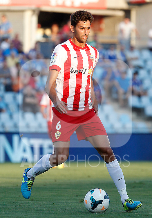 Almeria's Marcos Tebar during La Liga match.August 23,2013. (ALTERPHOTOS/Acero)