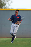 Cleveland Indians Oscar Gonzalez (39) during an instructional league game against the Cincinnati Reds on October 17, 2015 at the Goodyear Ballpark Complex in Goodyear, Arizona.  (Mike Janes/Four Seam Images)