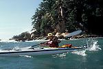 Japan, Sea kayaking off Sasebo, open ocean paddling, Pacific Ocean, .